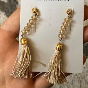 Swarovski earrings with tassel